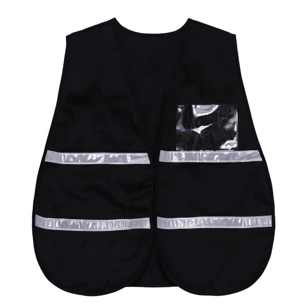 black safety vest a