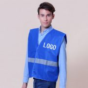 blue safety vest a
